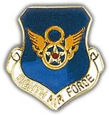 8th Air Force Shield Lapel Pin