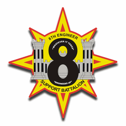 8th Engineer Support Battalion ESB 8 Sticker Decal