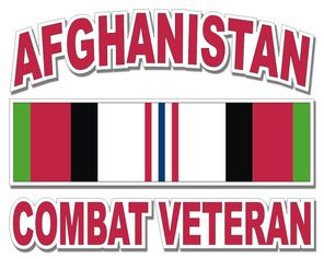 Afghanistan Combat Veteran Decal
