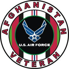 Afghanistan Veteran Air Force Decal Sticker