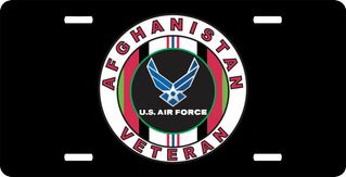 Afghanistan Veteran Air Force License Plate