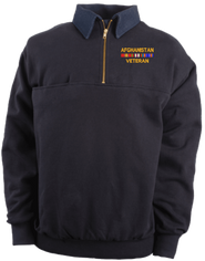 Afghanistan Veteran Game Sportswear Firefighter's Quarter-Zip Work Shirt