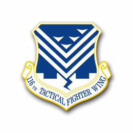 Air Force 116th Tactic Fighter Wing Vinyl Transfer Decal