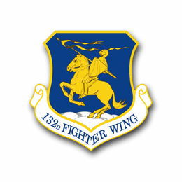 Air Force 132nd Fighter Wing Vinyl Transfer Decal