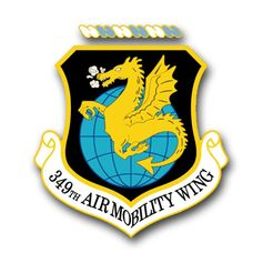 Air Force 349th Air Mobility Wing Vinyl Transfer Decal