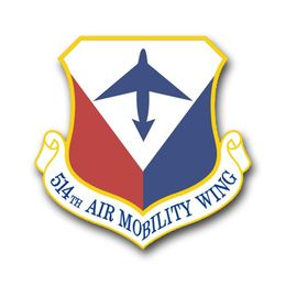 Air Force 514th Air Mobility Wing Vinyl Transfer Decal