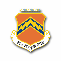 Air Force 56th Fighter Wing Vinyl Transfer Decal