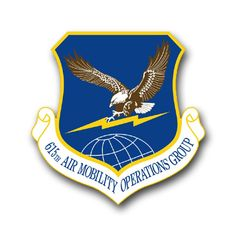 Air Force 615th Air Mobility Operations Group Vinyl Transfer Decal