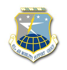 Air Force 621st Air Mobility Support Group Vinyl Transfer Decal