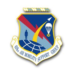 Air Force 624th Air Mobility Support Group Vinyl Transfer Decal