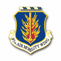 Air Force 97th Air Mobility Wing Vinyl Transfer Decal