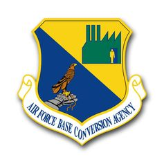 Air Force Base Conversion Agency Vinyl Transfer Decal