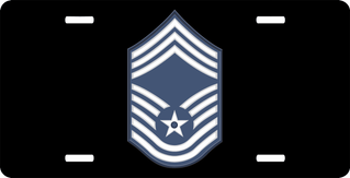 Air Force Chief Master Sergeant (No Diamond) License Plate