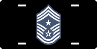 Air Force Command Chief Master Sergeant License Plate