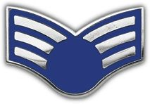 Air Force E4 Senior Airman (without star) Lapel Pin