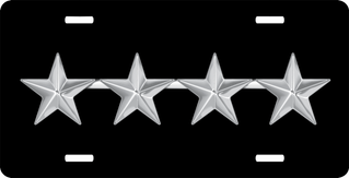 Air Force General Officer Rank Insignia License Plate