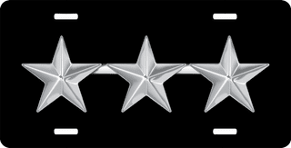 Air Force Lieutenant General Officer Rank Insignia License Plate