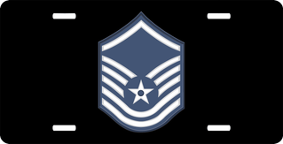 Air Force Master Sergeant (No Diamond) License Plate