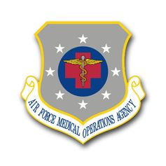 Air Force Medical Operations Agency Vinyl Transfer Decal