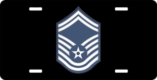 Air Force Senior Master Sergeant (No Diamond) License Plate