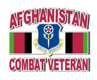 Air Force Special Operations Afghanistan Combat Veteran Decal Sticker
