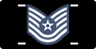 Air Force Technical Sergeant License Plate
