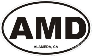 Alameda California Oval Decal