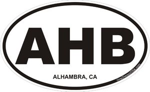 Alhambra California Oval Decal