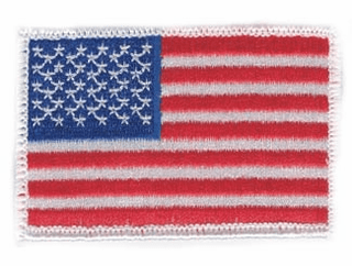 American Flag Hook and Loop White Patch