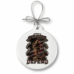 American Soldier Christmas Ornament