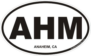 Anaheim California Oval Decal