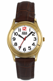 "Aquaforce ""Easy Reader"" Watch with Brown Leather Strap - Ladies"