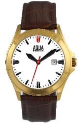 """Aquaforce """"Easy Reader"""" Watch with Brown Leather Strap - Mens"""