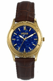 Aquaforce Elegant Ladies' Watch-Blue with Brown Band