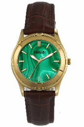 Aquaforce Elegant Ladies' Watch-Green with Brown Band