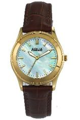 Aquaforce Elegant Ladies' Watch-Light Blue with Brown Band