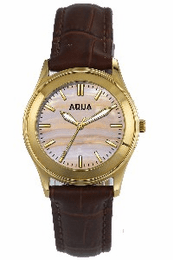 Aquaforce Elegant Ladies' Watch-Light Pink with Brown Band