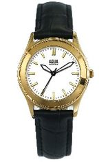 Aquaforce Elegant Ladies' Watch-White with Black Band