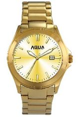 Aquaforce Elegant Men's Watch - Gold with Gold Band