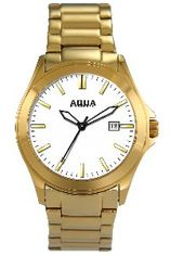 Aquaforce Elegant Men's Watch - White with Gold Band