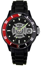 Aquaforce U.S. Air Force Watch With Etched Dial and Silicone Strap