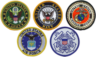 "Armed Services Combo Pack of 3"" Patches"