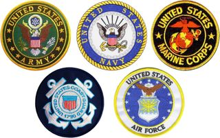 """Armed Services Combo Pack of 4"""" Patches"""
