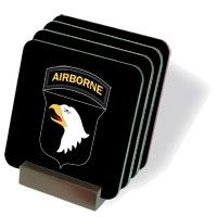 Army 101st Airborne Coasters - Set of 4