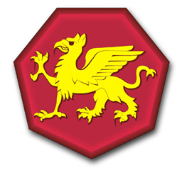 Army 108th Training Division Patch Vinyl Transfer Decal