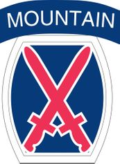 Army 10th Infantry Division Patch Vinyl Transfer Decal