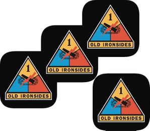 Army 1st Armored  Coasters - Set of 4