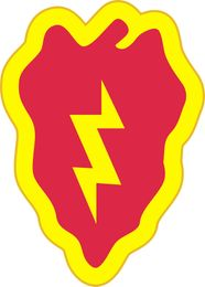 Army 25th Infantry Division Patch Vinyl Transfer Decal
