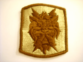 "Army 35th Signal Brigade Corps Airborne Desert 2 7/8"" Patch"