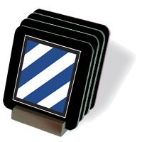 Army 3rd Infantry Coasters - Set of 4